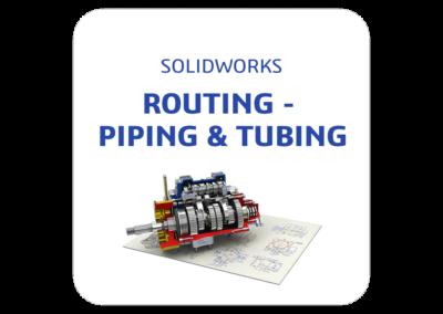 ¿Necesitas diseñar sistemas de tuberías complejos con SOLIDWORKS?