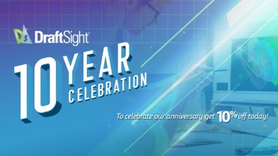 10º aniversario de DraftSight con un 10% de descuento